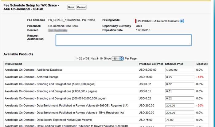 VF screenshot-Fee schedule