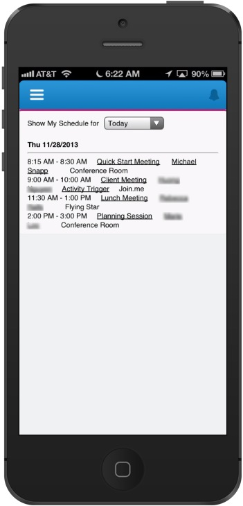 Salesforce1 is Missing the Calendar! - Snapptraffic