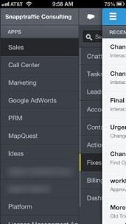 Salesforce Touch Screenshot